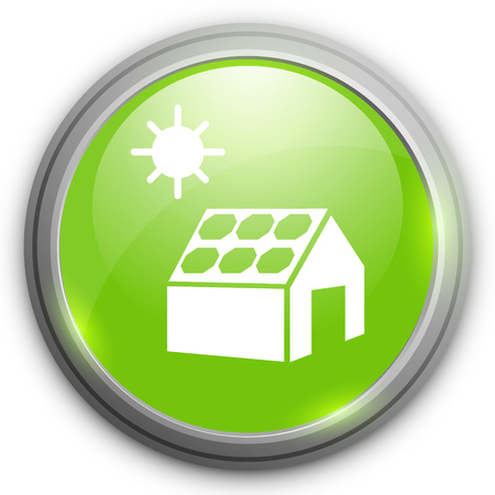 solar cell: solar cell and house icon Illustration