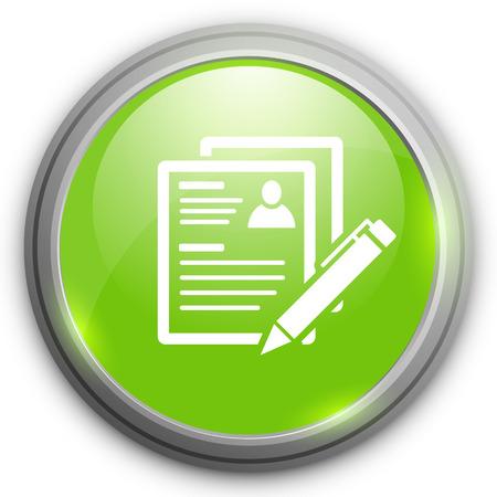 Resume icon Illustration