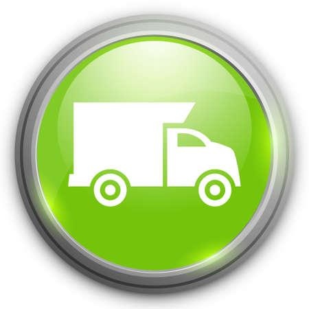cargo van: Delivery truck sign. Cargo van buuton.