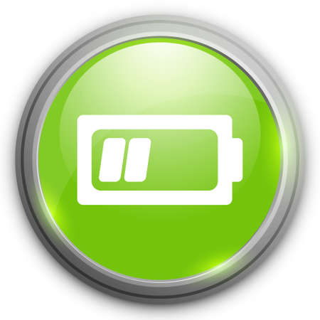 button batteries: Battery low icon. Illustration