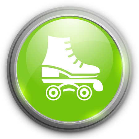 roller skate: roller skate vector icon illustration