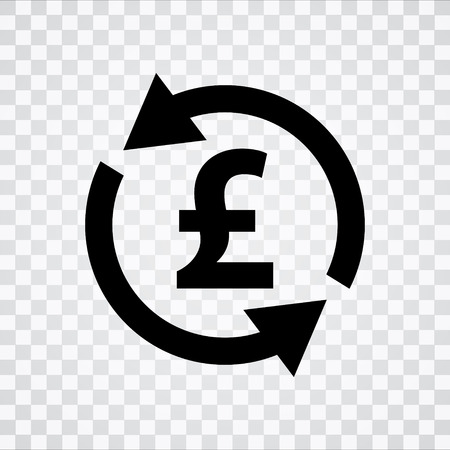 Pound Sign Icon Gbp Symbol Money Concept Royalty Free Cliparts