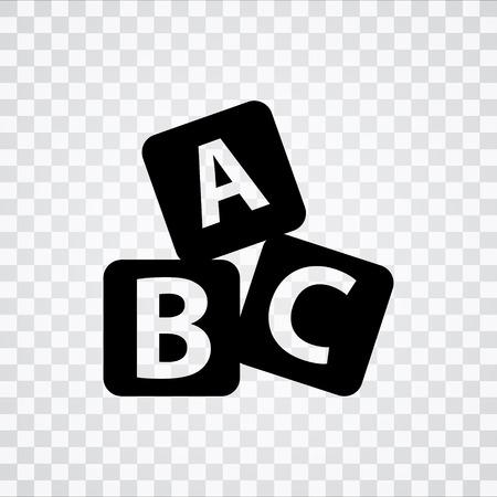 abc icon Stock Illustratie