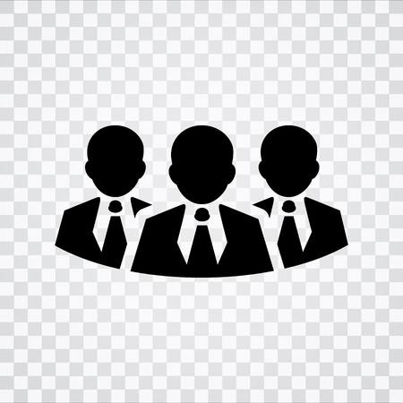 equal opportunity: group of business people icon - Illustration of crowd of people