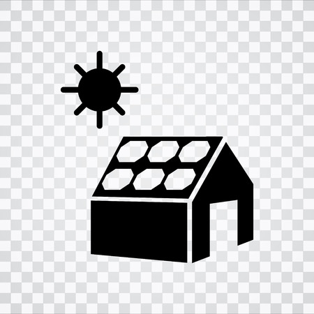 Solarzelle und Haus-Symbol