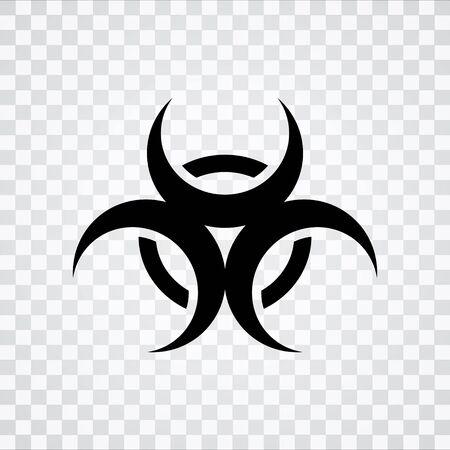 riesgo biologico: icono de peligro biológico Vectores