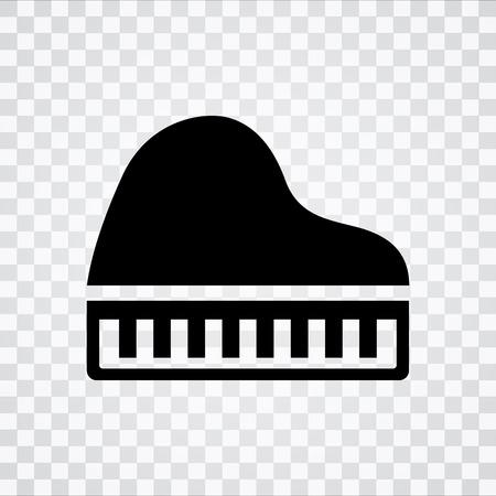 ピアノ アイコン  イラスト・ベクター素材