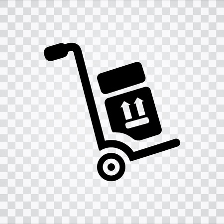 hand truck icon Illustration