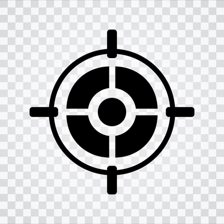 Target aim icon Illustration