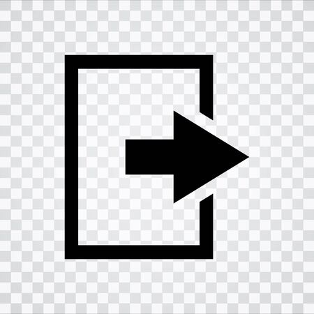Log Out: Logout sign icon. Sign out button.