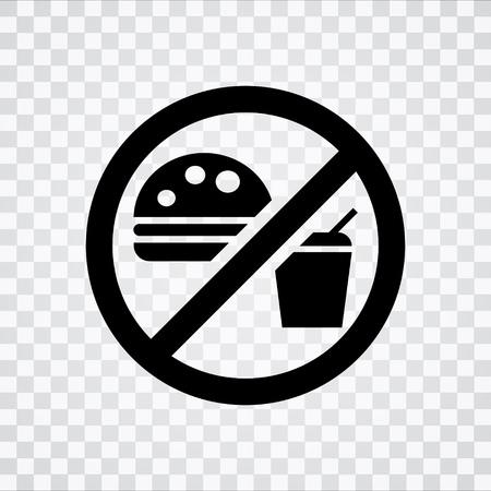 eating area: No Food Sign Illustration