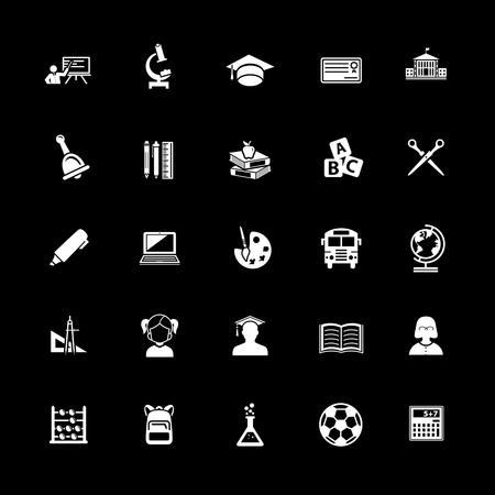 Education Icons set vector illustration.