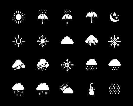 weather icons set vector illustration.