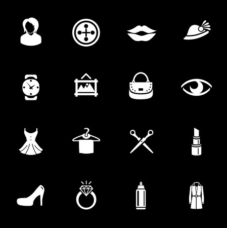Fashion icons set vector illustration. Illustration
