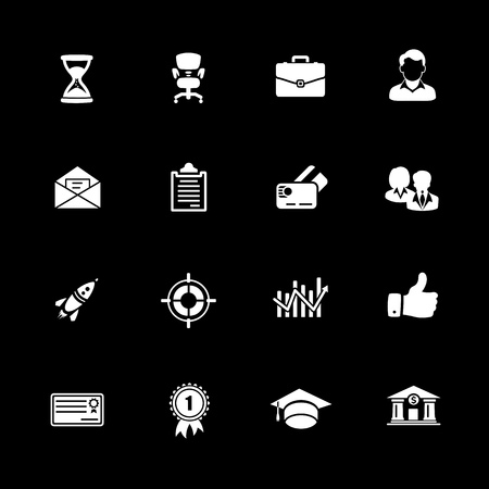 Business icons set vector illustration.