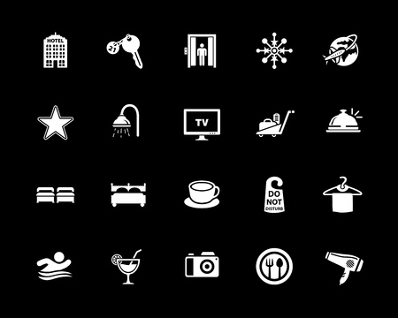 Hotel icons set vector illustration.
