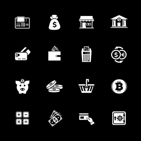 banking icons set vector illustration. Illustration