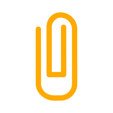 Paper clip attachment icon on a white background