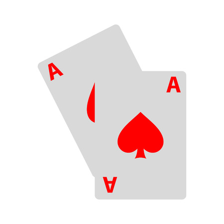 Playing cards illustration on a white background Foto de archivo - 100284415