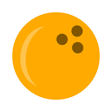 Bowling icon vector bowling ball - sports game icon.