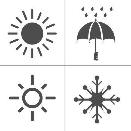 weather icons for weather forecast, temperature sign symbol. climate  イラスト・ベクター素材