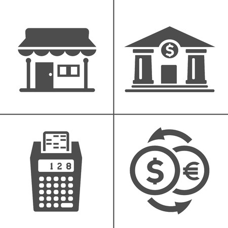 vector piggy banking icons set - financial business sign symbol, finance and marketing illustrations isolated. money Zdjęcie Seryjne - 127223673