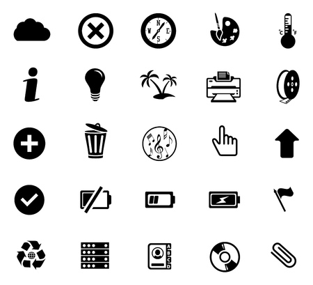 Universal icons - vector web business icons set - computer communication sign & symbols
