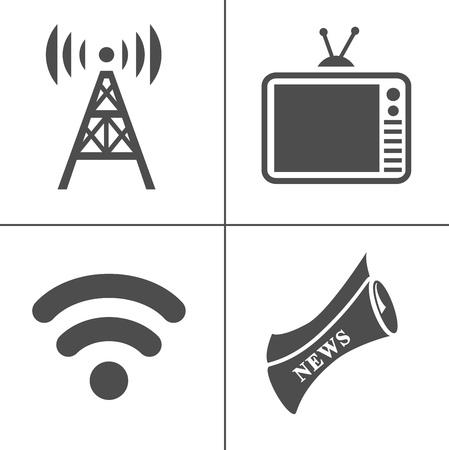 vector Media Icons - social Media. internet app symbol - communication Icons