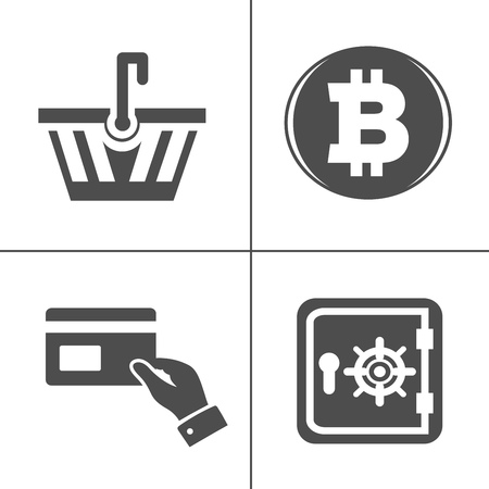 vector piggy banking icons set - financial business sign symbol, finance and marketing illustrations isolated. money