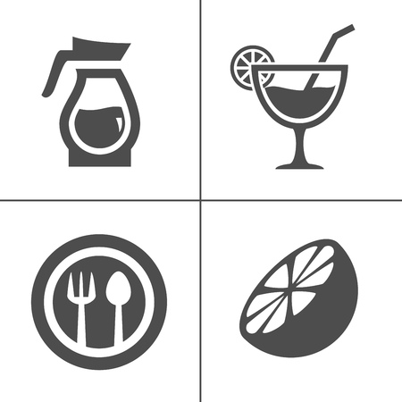 Cafe and confectionery icon set. Sweet baked goods, desserts and coffee. Zdjęcie Seryjne - 127223699