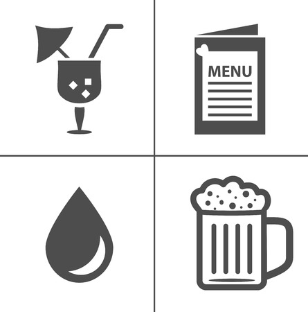 Wine vector illustration icon set. Included the icons as red wine, glasses, sommelier, tasting, ferment and more Ilustrace