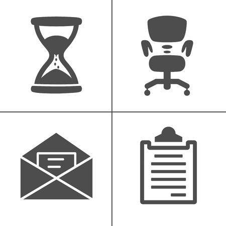 vector business office icons set - computer illustrations - Mobile phone sign and symbols