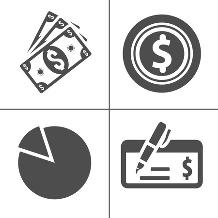 Bank and finance icons set, money icons, vector investment icon Illustration
