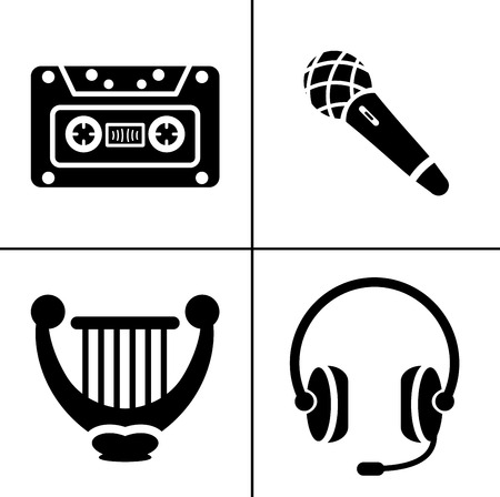 Sound Music icons set - audio sign and symbols, vector Music icons Zdjęcie Seryjne - 127223713