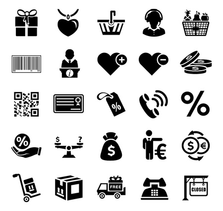vector sale and shopping icons set, online marketing, e-commerce and shopping Icons, business store - vector shopping and sale promotion llustrations collection sign symbols