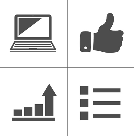 Internet marketing icons - SEO - Search engine optimization. -commerce and shopping, online store, online business marketing
