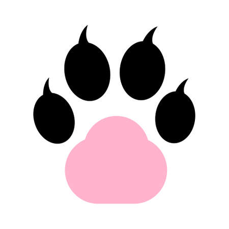 vector pet paw dog print- sign animal symbol illustration