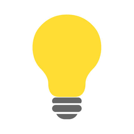 light bulb icon, vector idea, creative design concept, innovation