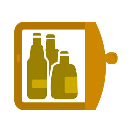 vector refrigerator icon