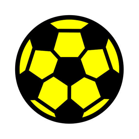 football icon, vector soccer ball - sport illustration, play game symbol - game icon Stock Illustratie