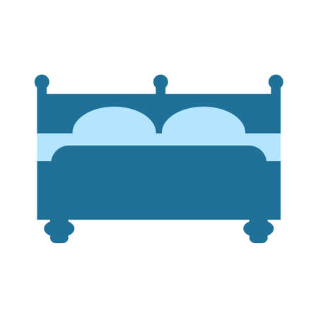 hospital bed icon. vector hotel icon - sleeping bed. travel symbol isolated