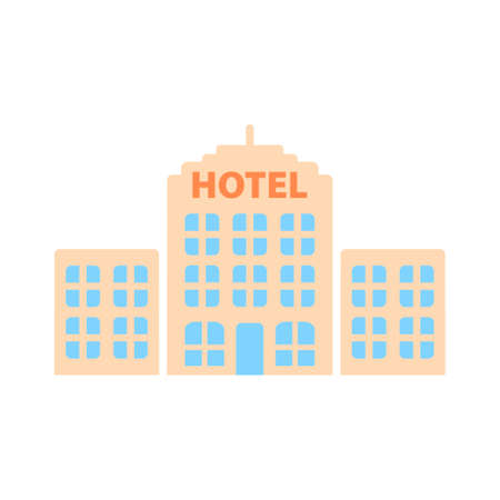 hotel building icon Stock Illustratie