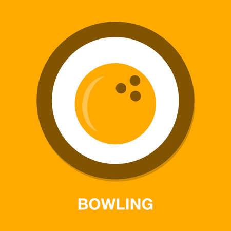 Bowling icon. vector bowling ball - sports game icon Stock fotó - 157289616