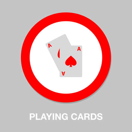 Playing card illustration - casino symbol - playing cards sign 向量圖像