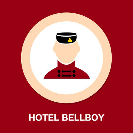 service concept represented by bellboy icon. Isolated and flat illustration