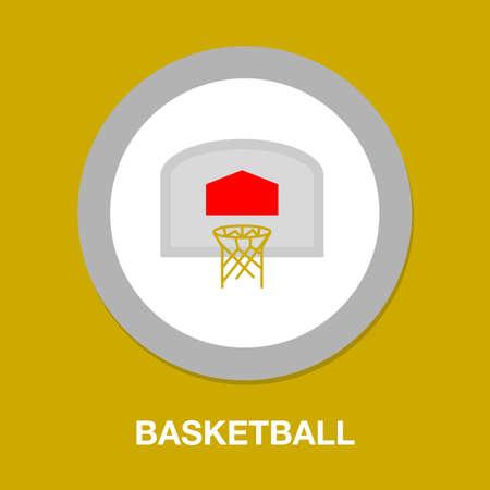 Basketball basket, basketball hoop isolated on white background illustration