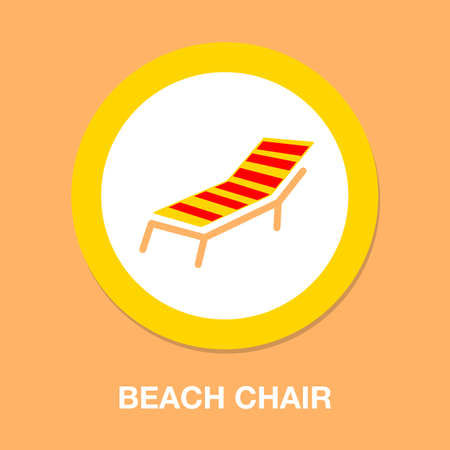 beach chair icon - beach chaise lounge. Vacation and travel concept. beach chair 일러스트