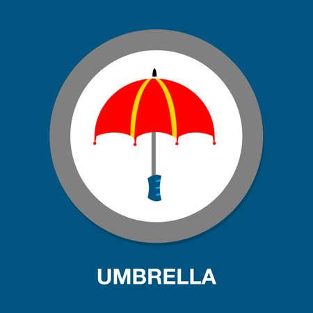 umbrella icon weather sign - protection illustration, umbrella isolated