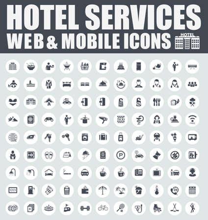 hotel Icons 向量圖像