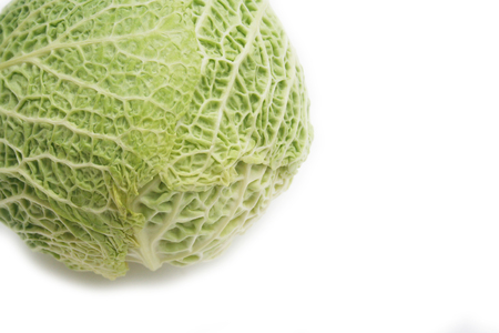 Savoy cabbage isolated on a white background